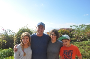 Kesslin Family Overlooking Sea of Galilee