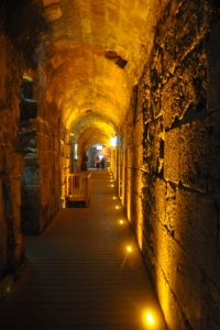 This is a tunnel under the Western Wall of the Old City of Jerusalem.