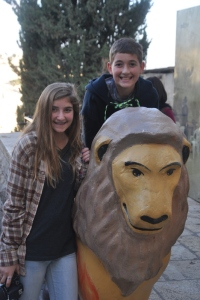 Drew & Noah in the Jewish Quarter of the Old City in Jerusalem
