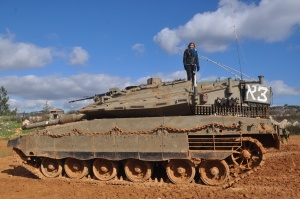Drew on a Tank