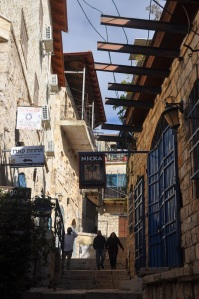 Tzfat alley of shops