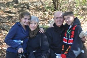 Drew, Noah, Grandma & Grandpa in Dan Reserve