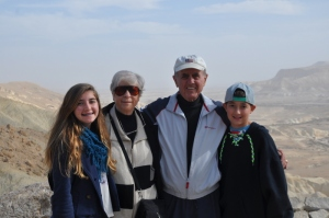 Drew, Noah and the Grandparents at Ben Gurion's Tomb