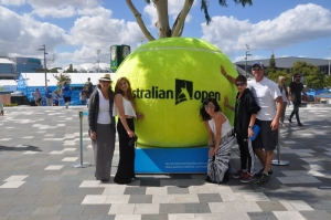 The Family (+ Karley) at the Australian Open