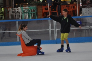Drew & Noah Ice Skating in Eilat