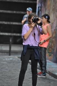Drew Taking Pictures on Hosier Lane