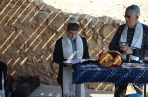The Bar Mitzvah Boy & Rabbi Berman at Masada