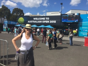Ilise @ the entrance to Australian Open