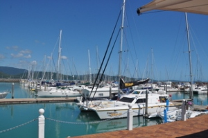 The harbor in Airlie Beach