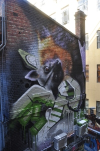 Final Fruit Bat wall art image on Hosier Lane