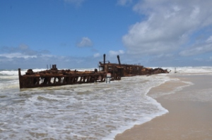 The Maheno shipwreck. There since 1917