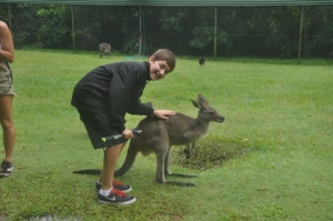 Noah w/ the kangaroos