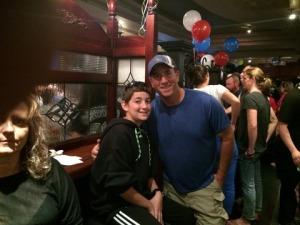 Noah & I at Turf Bar to watch the Super Bowl!