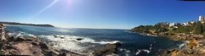 Panoramic of Bondi Beach