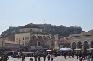 The market in Athens below the Acropolis