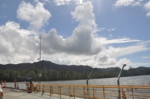 View from the ferry across the Daintree River