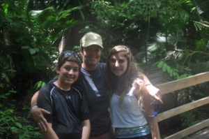 Ilise and the kids in the Daintree