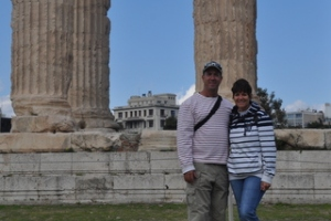 Ilise and I at the Temple of Zues