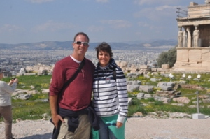 Ilise and I at the Acropolis