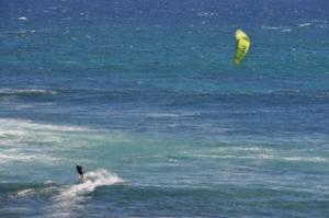 Kite surfer at Prevely Beach