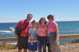 Family in Margaret River, Australia