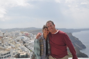 Ilise and me in Fira