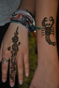 Henna tattoos for Drew and Noah