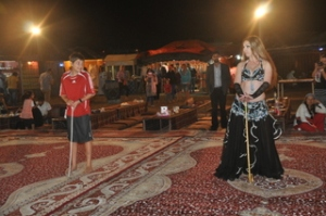 Noah with the belly dancer