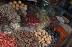 Spices in the market on the Dubai canal