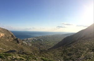 Panorama from the top of the mountain