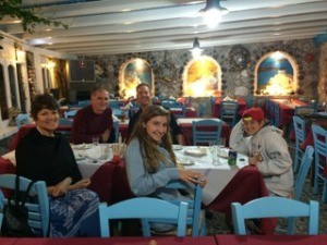 The family with Rossetos at Dimitri's.