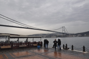 Ortakoy area under the first bridge over the Bosphorus