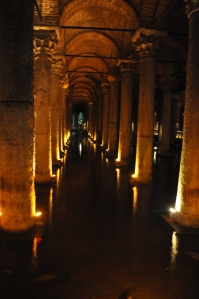 Inside the Basilica Cistern. What a really cool place to spend an hour or so.