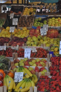 Fruit market in Venice