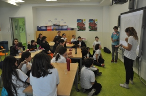 Noah and Drew teaching at the Bridges School in Istanbul