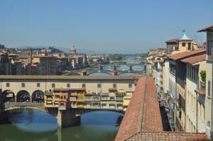 Amazing view from inside the Uffizi