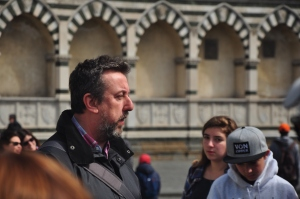Our walking tour guide in Florence