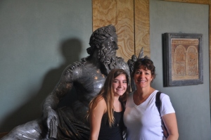 Ilise and the birthday girl in the Vatican w/ Zeus