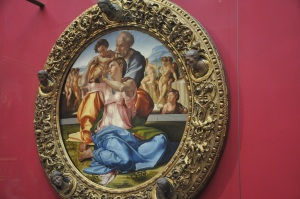 The Holy Family Painting by Michaelangelo