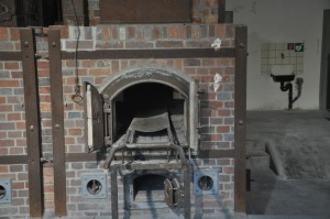 A furnace in the crematorium at Dachau. Pretty sickening to say the least.