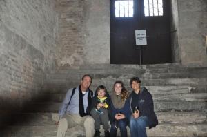 Family inside the Hagia Sophia