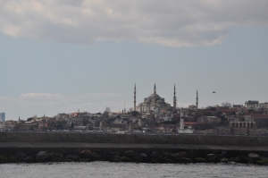 The Blue Mosque from the ferry to Asia