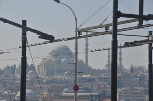 A large mosque in Istanbul