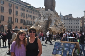 Ilise and Drew in Piazza Pavona