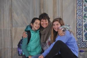 Drew, Ilise and Ayse Maya near Topkapi Palace