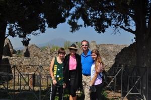 Family photo at Pompeii
