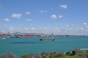 The Bosphorus Straight, the water way that links the Black Sea to the Marmara Sea.