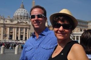 Ilise and me in front of St Peter's