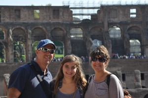 Ilise, Drew and me at the Colosseum