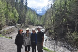 Family at the end of the gorge. What a great hike!